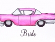 Fab Cadillac inspired place card from Beadazzle Designs