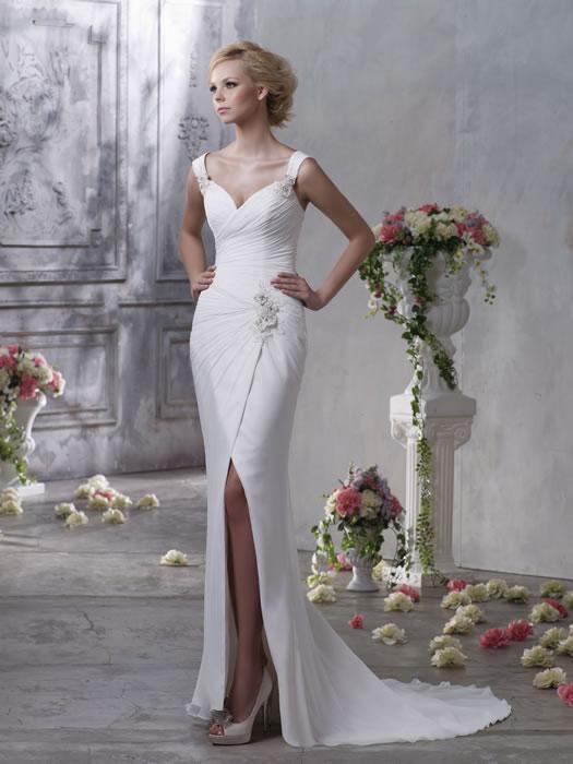 Свадебные платья с разрезом фото 12