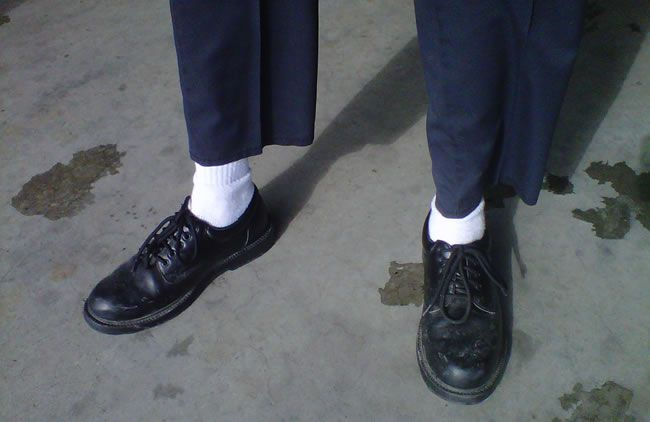 white-socks-black-shoes