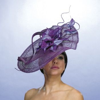 lilac wedding hat