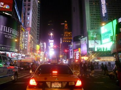 Times Square New York City by night