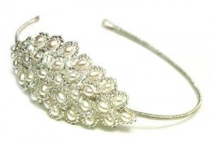 Side tiaras give a traditional look a modern twist
