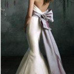 wedding-dress-by-Tara-Keeley-with-purple-sash