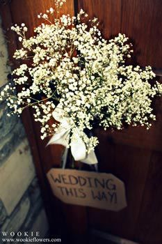 Gypsophila wedding decorations
