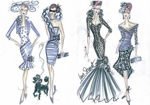 Mother of the bride sketches