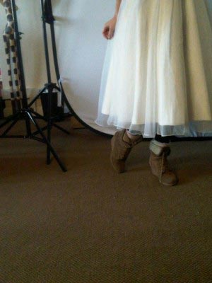 wedding-dress-tea-length-ugg-boots