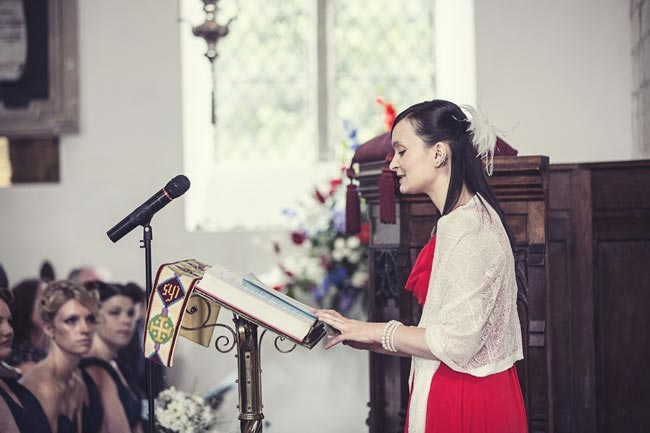 Wedding guest gives reading in church Thoughtful Wedding Readings for Your big Day