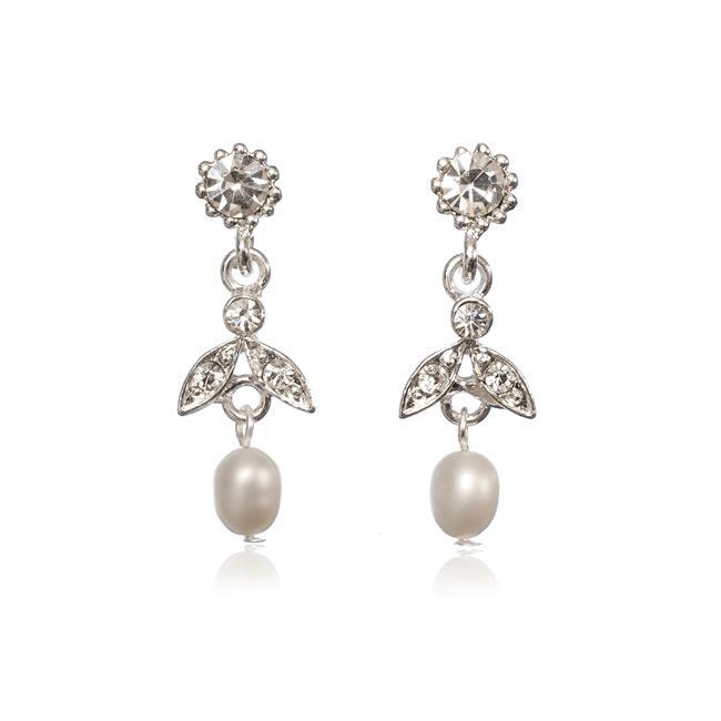 Leticia Pearl and Diamante Earrings £29.99 www.olivierlaudus.com