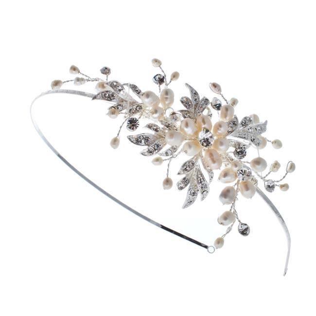 Nerea Pearl and Diamante Side Headband £79.99 www.olivierlaudus.com