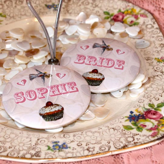 2 Personalised Mirror Favours