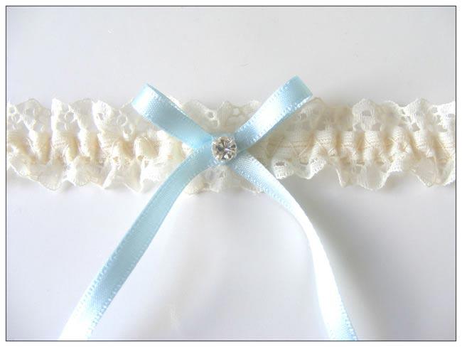 3 Romin Bridal Garter - blue