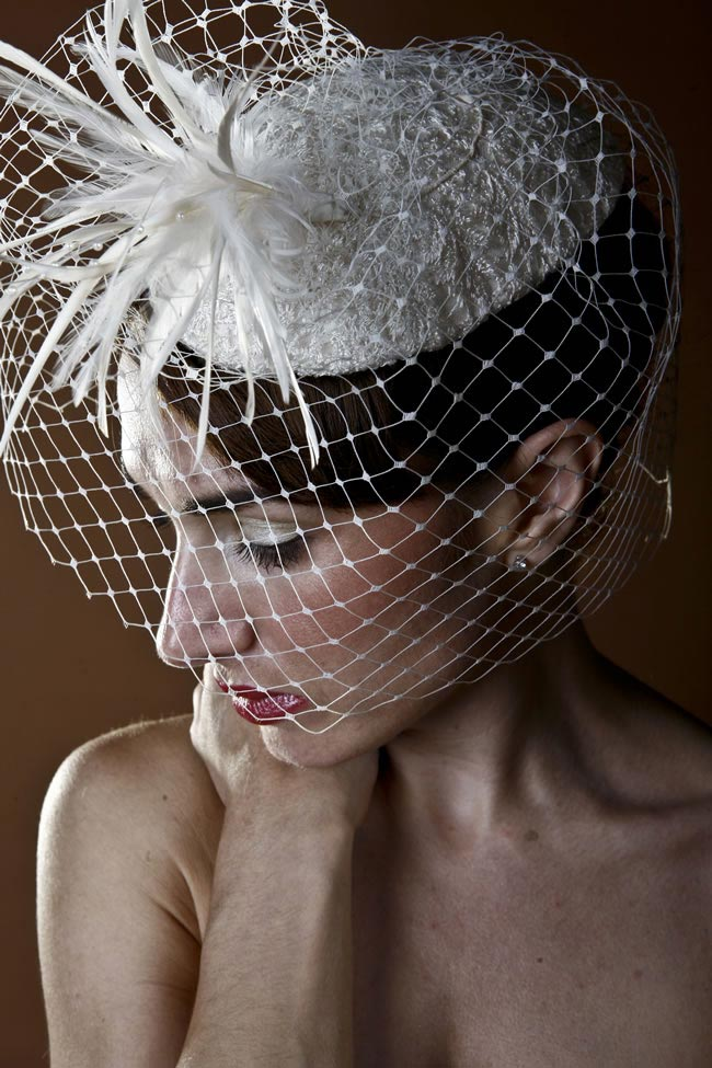 6 ivory lace hat