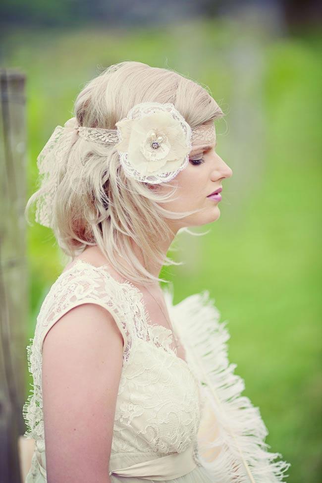 Juliette lace headband £75 SilverSixpenceInHerShoe