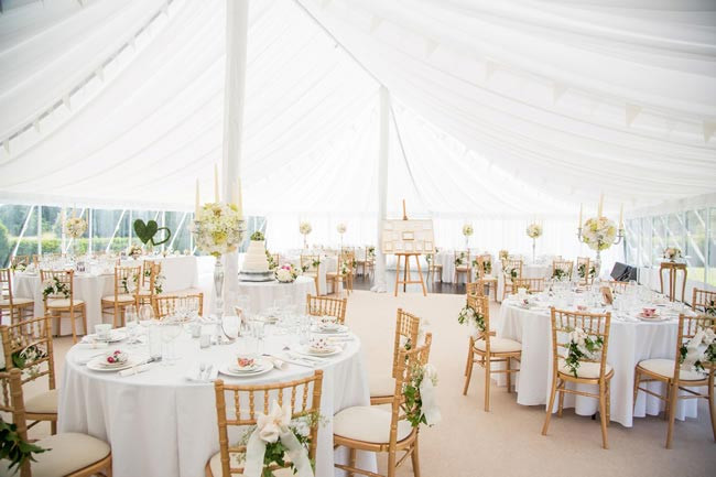 white marquee wedding katherineashdown