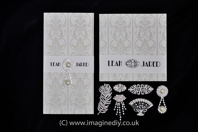 1920s wedding stationery