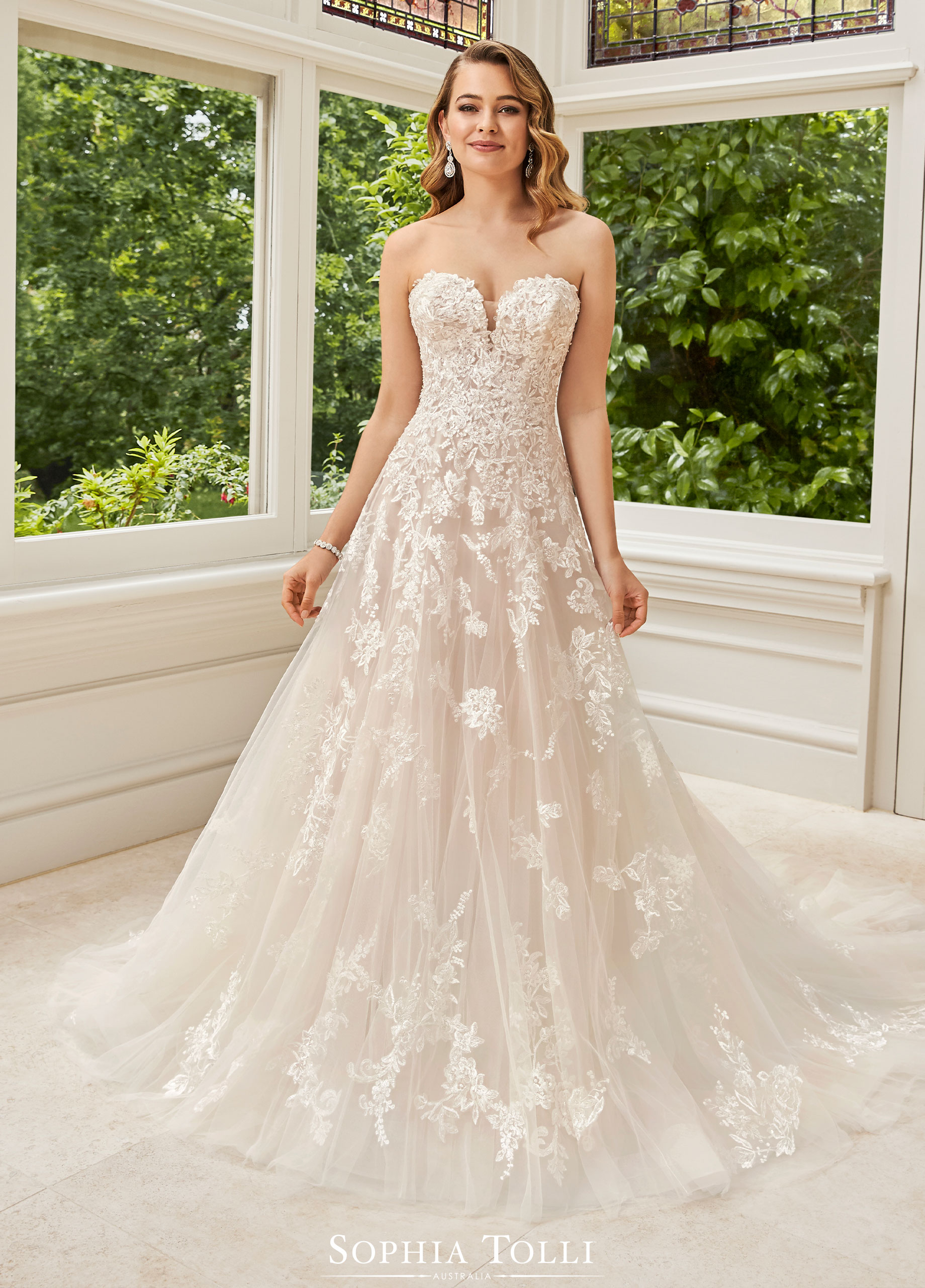 Wedding dress: Rosa by Sophia Tolli