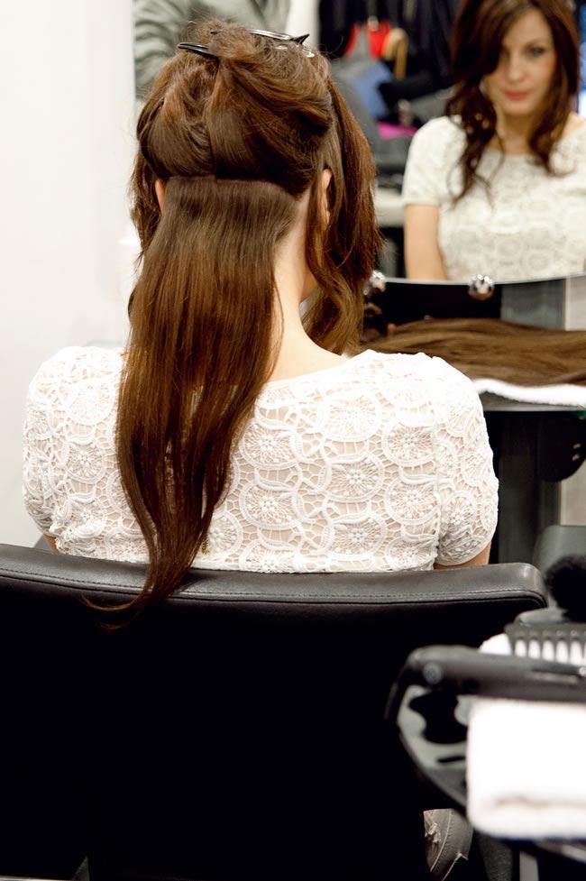 DIY boho hairstyle