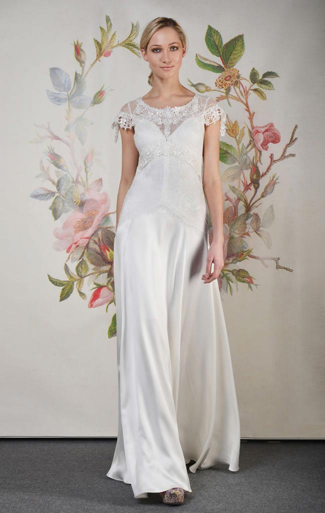 Wedding dress: Wren by Claire Pettibone