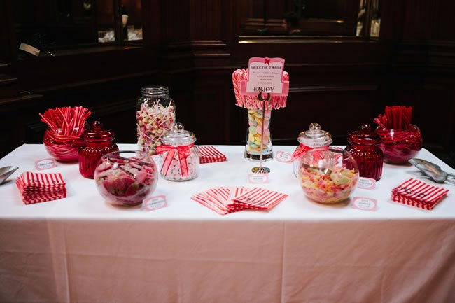 wedding sweet table MarriageIsTheBomb