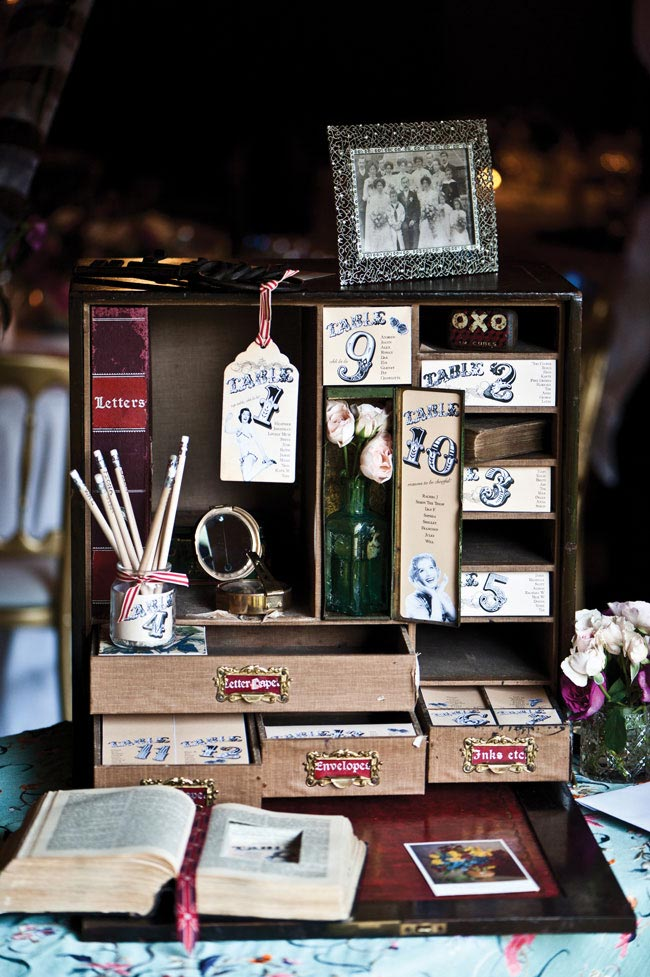 7 easy wedding stationery items you can DIY Vintage-table-plan-idea-1-CLICK-PHOTOGRAPHY