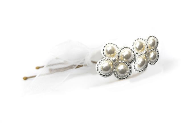 Rachel Simpson 2014 collection style Pearl Beaded hairpins (424)
