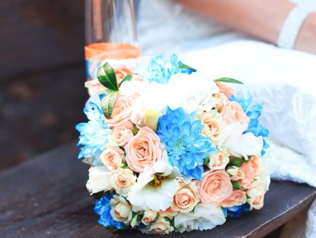 Something Old, Something New... blue flowers