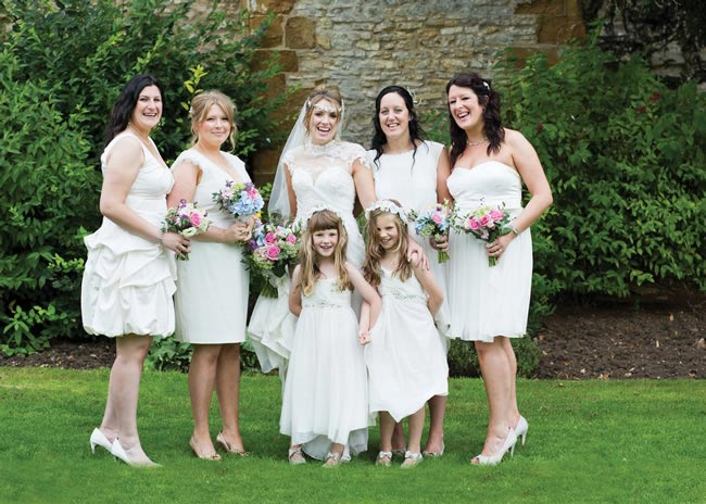 Real Bridesmaids In Our Stunning And Elegant Bridesmaid: An Elegant Real-life Wedding In Warwickshire With Frances