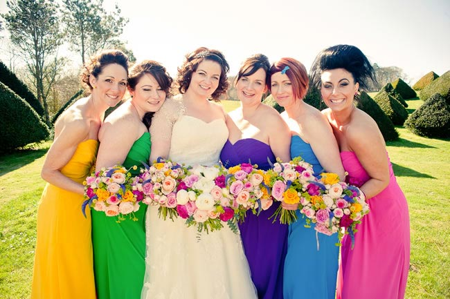 bright bridesmaids kerriemitchell