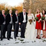 winter real wedding featured