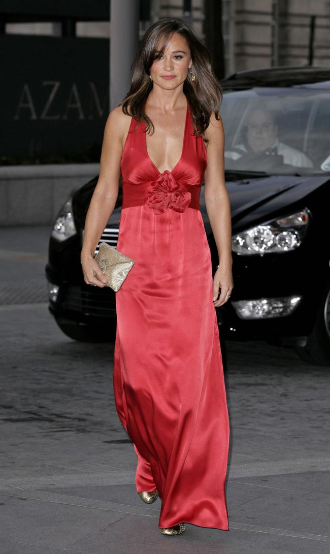 Pippa Middleton - Red Dress Candids in London-02