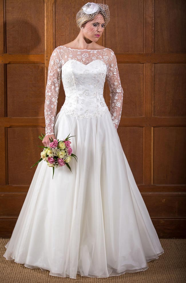 Rebecca  - Qiana Bridal - Classic Rose Collection