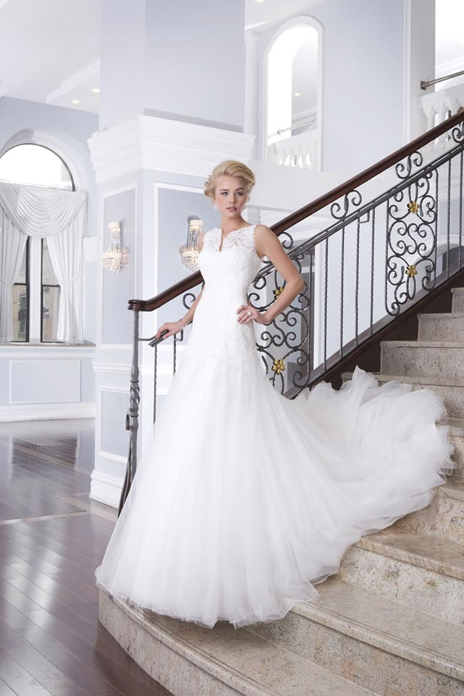 Style 6309 from the Lillian West 2014 Bridal Collection