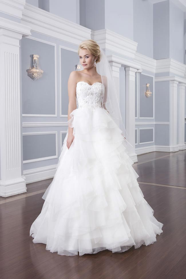 Style 6313 from the Lillian West 2014 Bridal Collection