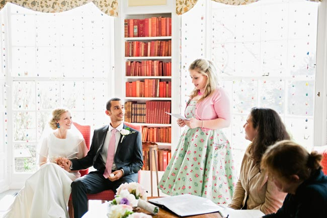 woman performing a wedding reading The Most Popular Wedding Readings for Modern Ceremonies