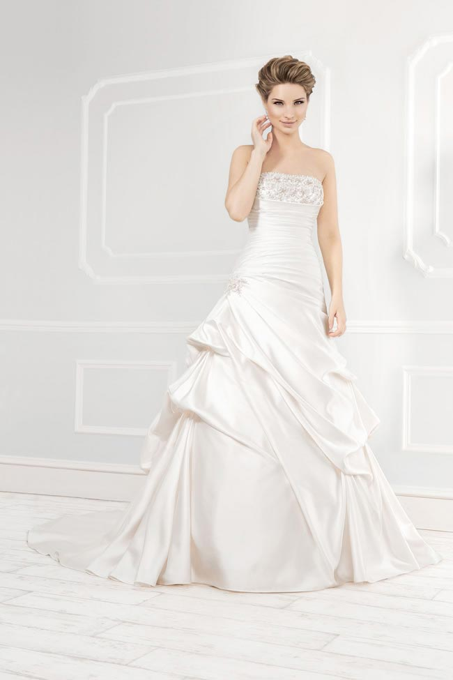 Style 113811 from the Blossom 2014 collection by Ellis bridal