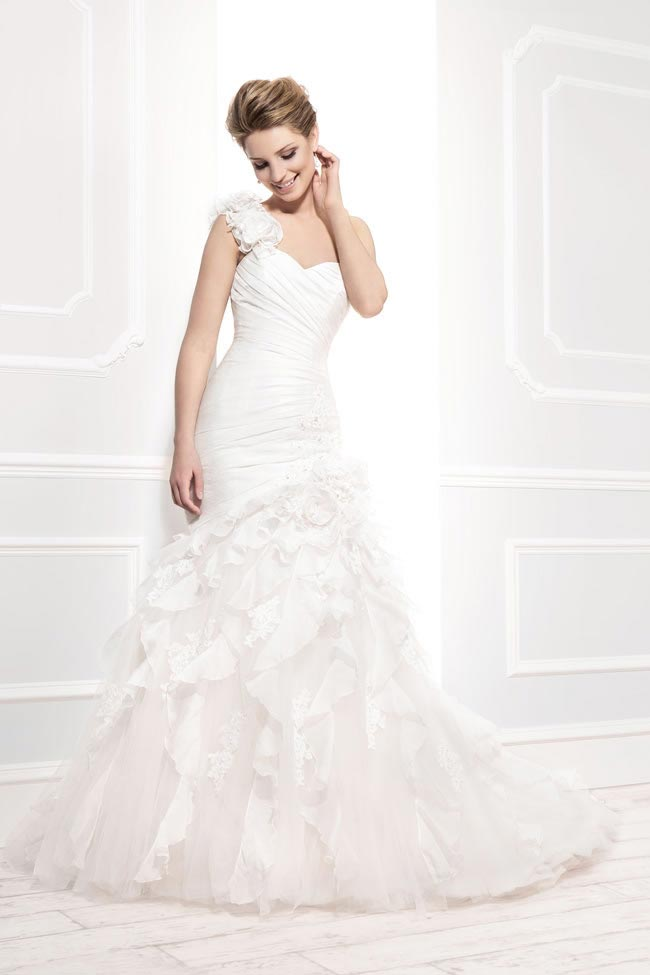 Style 11391 from the Blossom 2014 collection by Ellis bridal