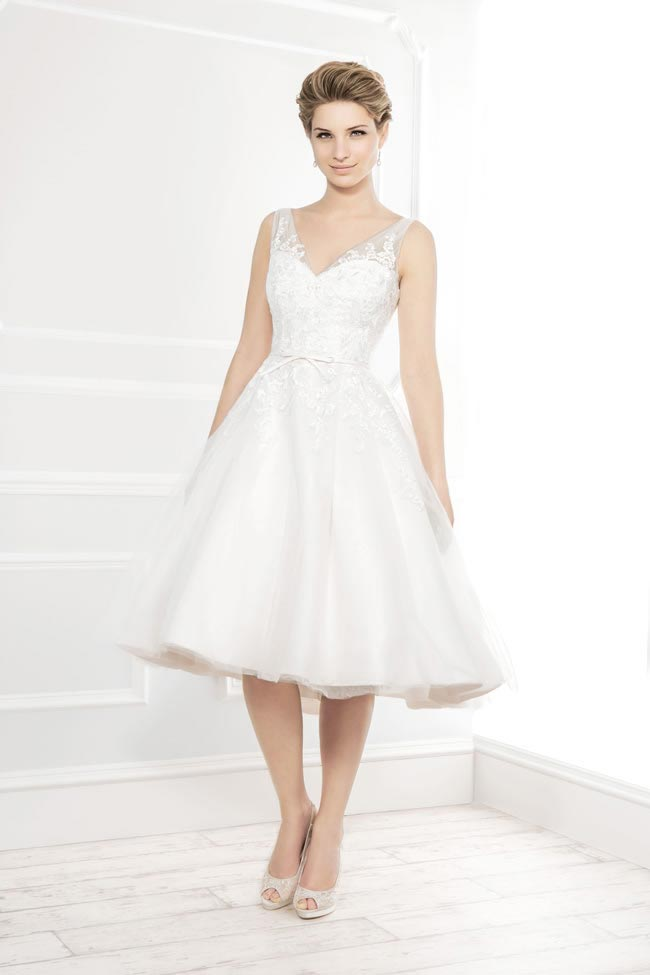 Style 11404 from the Blossom 2014 collection by Ellis bridal