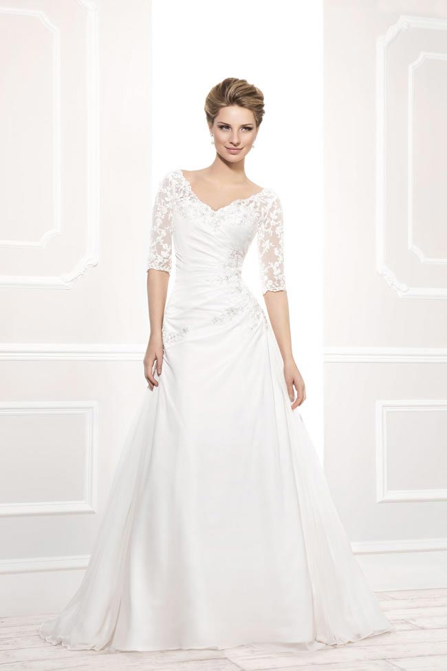 Style 12201 from the Blossom 2014 collection by Ellis bridal