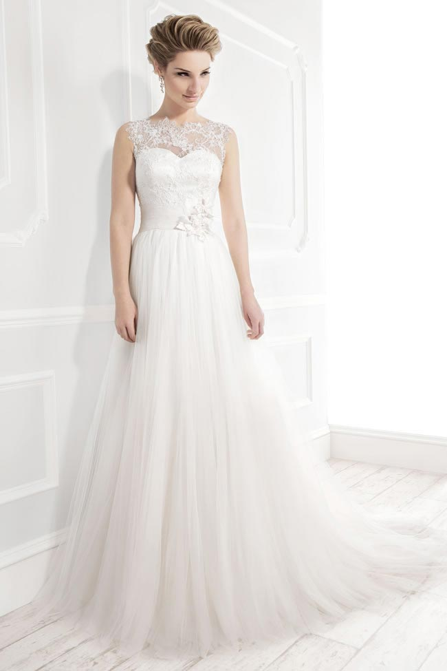 Style 19033 from the Blossom 2014 collection by Ellis bridal