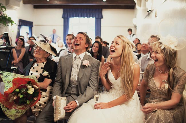 Guests Laughing- Make Your Guests Laugh With These Funny Wedding Readings