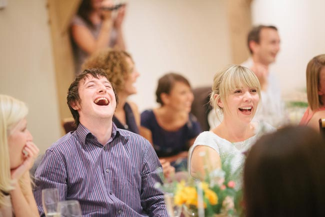Wedding Party Laughing - Make Your Guests Laugh With These Funny Wedding Readings