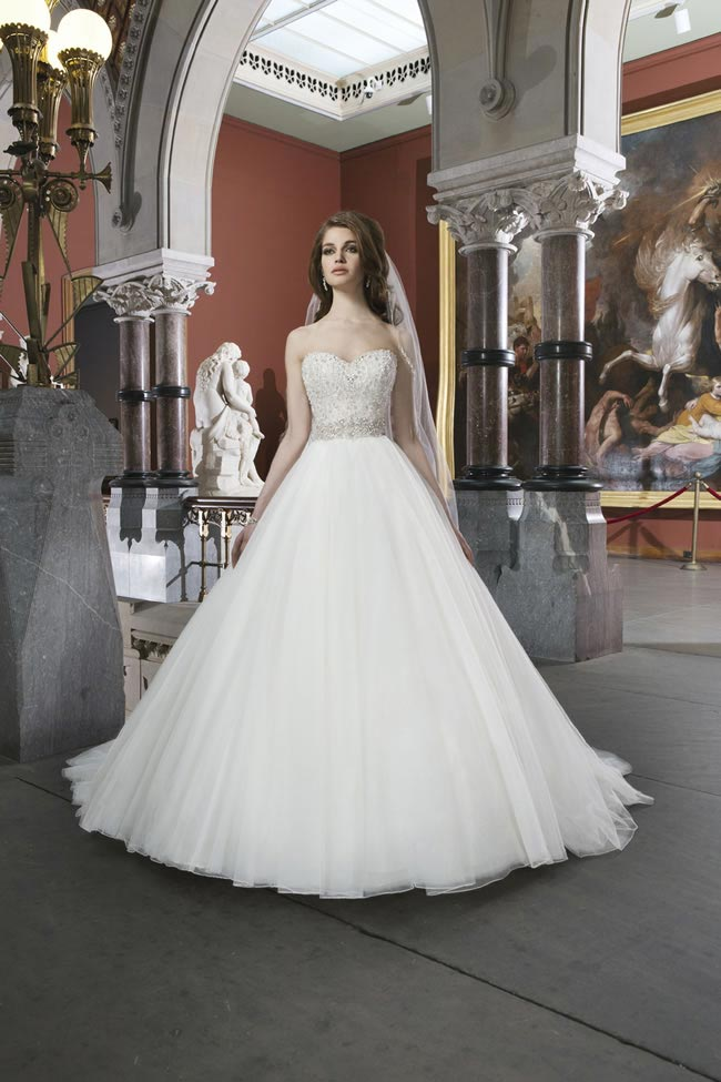 Style 8724 from Justin Alexander Bridal 2014 Spring Collection