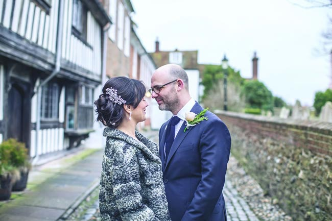 Rebecca and David's vintage-inspired real-life wedding