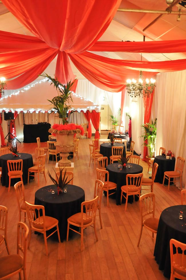 9-budget-friendly-ways-style-wedding-reception-venue-fabric 1