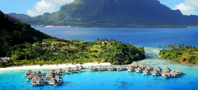 best-long-haul-honeymoon-destinations-Hilton-Bora-Bora-Aerial-optimised