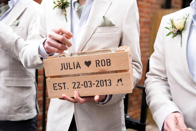 Julia and Robert's early spring real life wedding with fresh greens and a hint of sparkle © cgpgraham.com