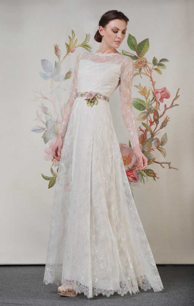 20-of-the-best-floral-wedding-dresses-for-a-country-garden-theme-Charlotte-Claire-Pettibone