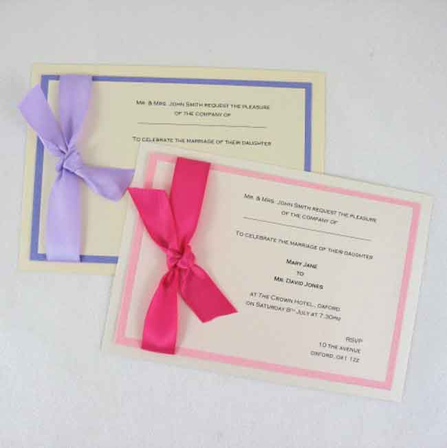 How To Make Your Own Wedding Invitations In