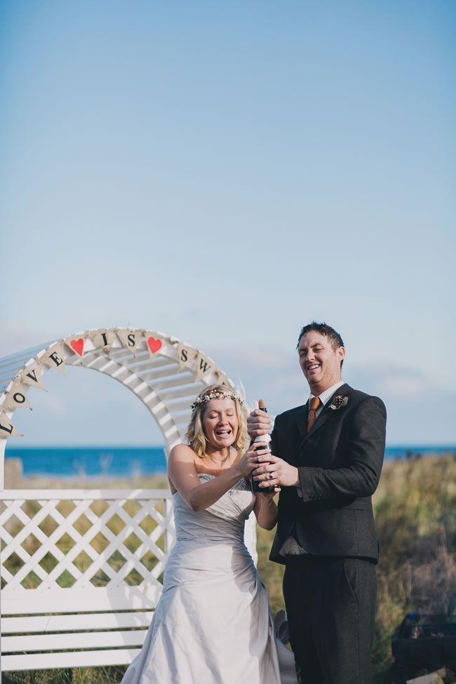 Julie and Mark's intimate and romantic Scottish beach wedding © mattbowenphotography.co.uk