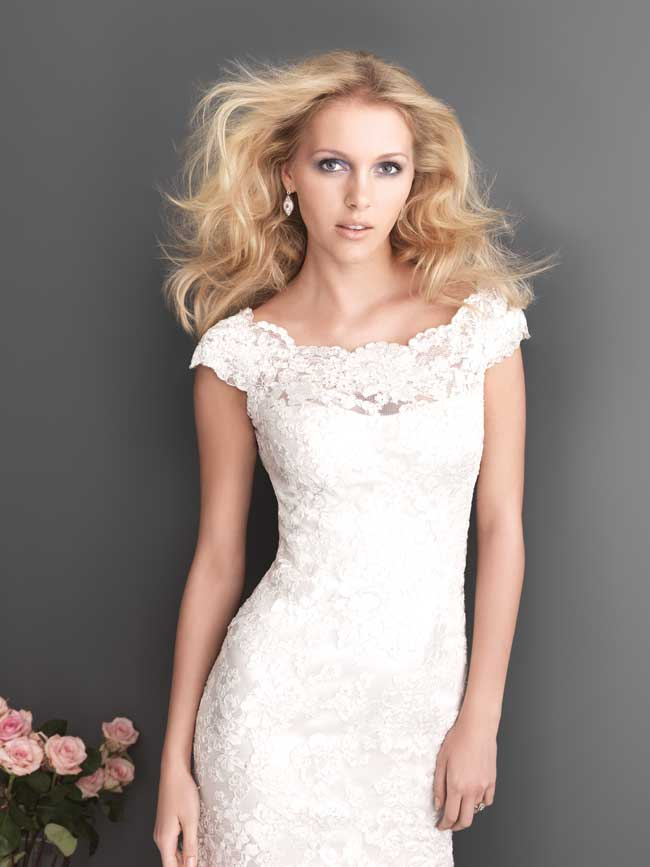 7 slinky lace wedding dresses for glamorous brides from Allure Bridal